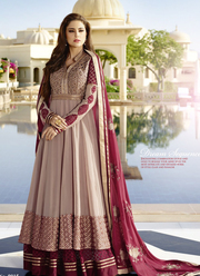 Online Wine Floor Touch Wedding Anarkali Salwar Kameez